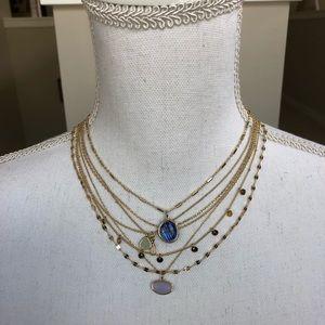 NWT ANTHROPOLOGIE Ramona Layered Stone Necklace